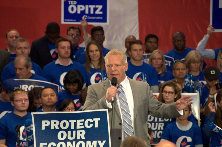 Doug Ford wasted no time in roasting Trudeau's Liberals for supposedly huge tax hikes that in his view would reduce families to penury, whipping up his supporters into a frenzy for a re-elected Stephen Harper government. He burst onstage to a packed house & unleashed a barn-burning speech in front of ecstatic supporters who hung on his every word, cheering promises of low taxes & strong families & loudly booing any mention of Justin Trudeau at an Oct. 17 rally. Really & truly SAD.