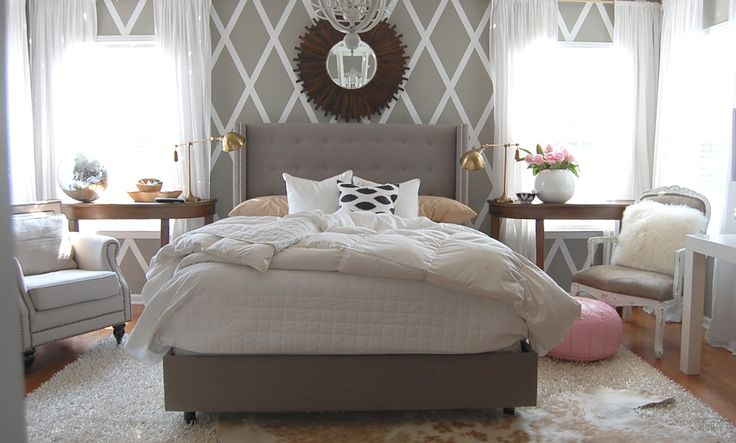 how to make a diamond wall: Beds Rooms, Grey Paintings Bedrooms, Bedrooms Design, Diamonds Wall, Master Bedrooms, Paintings Bedrooms Furniture, Bedrooms Decor, Bedrooms Ideas, Gray Bedrooms