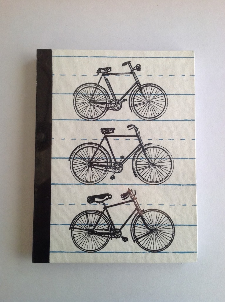 Recycled paper bicycle journal