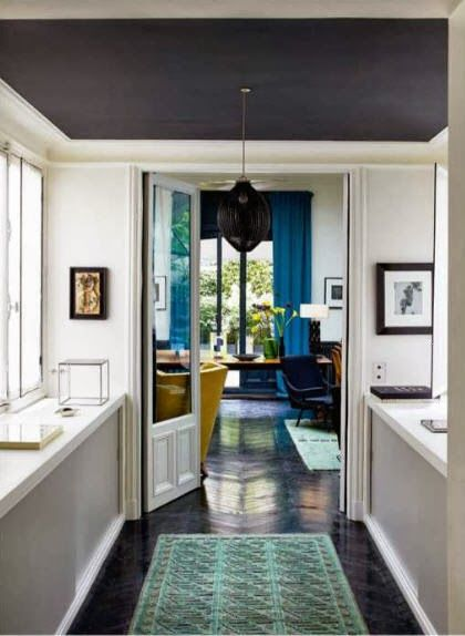 MODERN KITCHEN | Paris apartment of Charlotte Gainsbourg and Yvan Attal. The multi-level apartment was designed by antiques dealer Florence Lopez seen in World of Interiors via Habitually Chic®