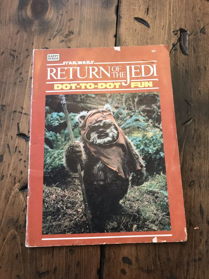 Vintage Star Wars Coloring Book - Return of the Jedi, Dot to Dot Book, Ewoks, Endor, Used (A074)