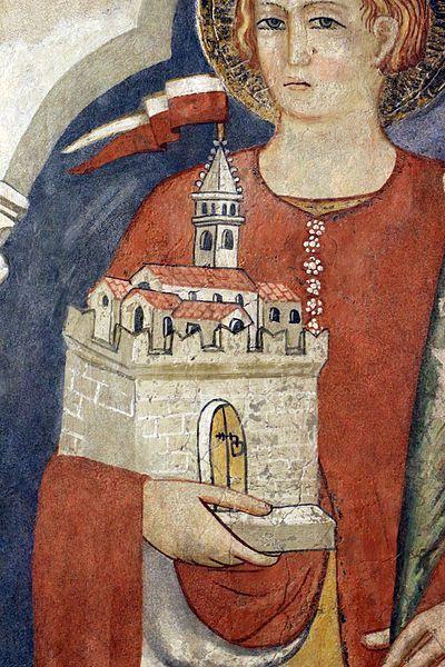 Pittore umbro - San Venanzio da Camerino - 1410 ca. - Museo Civico di Gualdo Tadino