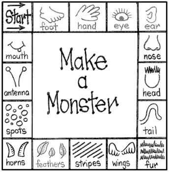 Make-A-Monster Activity(approximately 15 minutes to complete)Materials:Make-A-Monster game boardLarge sheets of black paper and coloured chalk ORLarge sheets of white paper and thick, coloured markersOne glue stick or item to move around the game boardOne die or dicePreparation:a) Tapes sheets of black/white paper to the wall one per small group of students.b) Make arrangements for older students/peer helpers to assist they help start the activity by drawing a large shape on the paper…