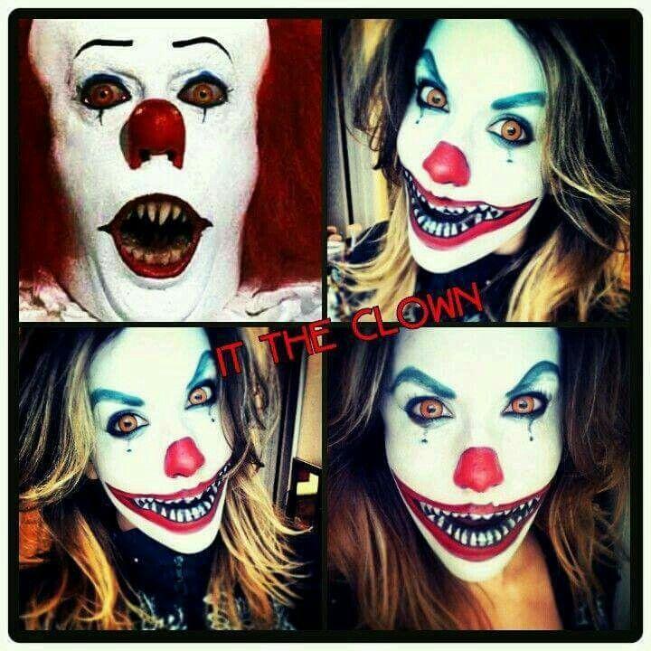 Make up horror clown it