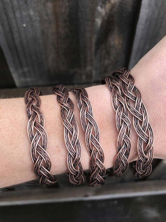 Copper wrapped and braided healing bracelet • This beauty gold the healing properties of copper || A natural mineral formed by nature - Copper is said to aid in Arthritis, aches and pains and cramps. Sizes vary - small - medium - large