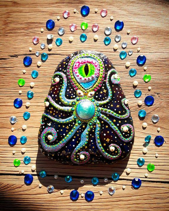 Octopus decoration kids gift idea nautical decor beach