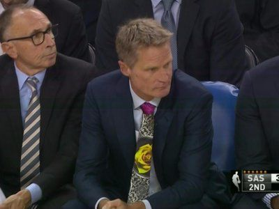 Steve Kerr and Gregg Popovich wore 'ugly' ties in honor of sideline reporter Craig Sager who is fighting cancer