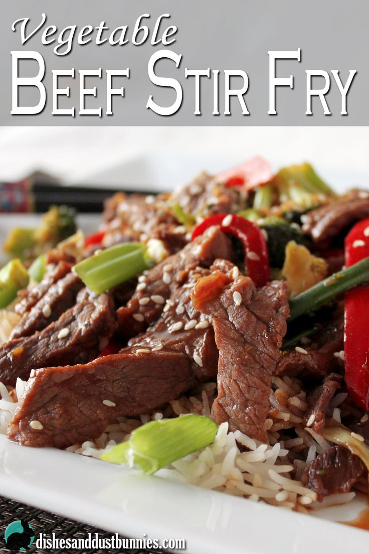 This vegetable beef stir fry is something delicious and easy you can whip up for the family with very little effort! food recipe