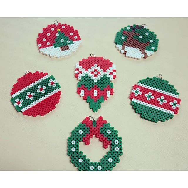 Christmas ornaments perler beads by kisslove0913