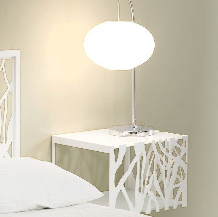Modern metal wall mounted bedside table Green by Cosatto