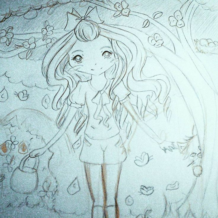 New happy sketch #sketch #drawing #happysketch #happydrawing #originalcharacter #chibistyle