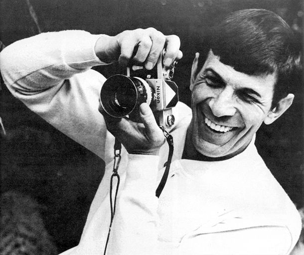 """A fun read on 10 celebrity photographers. Spock says """"Say thuhk!"""" """"The Vulcan word for cheese according to the Vulcan Language Dictionary) ;)"""