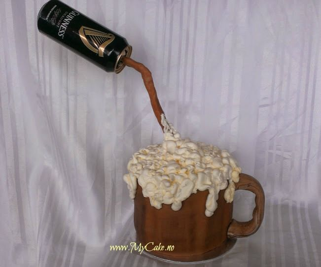 Beer mug cake birthday  www.mycake.no https://www.facebook.com/pages/Mycake/518427724909847