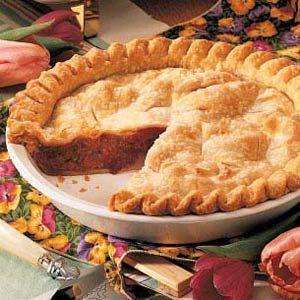 Perfect Rhubarb Pie  (I hope it is as good as my Grandma Bradley used to make...fingers crossed)