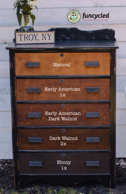 How to Create this Gradient Look! #funcycled #paintingfurniture #repurposedfurniture http://funcycled.com/projects/how-to-make-an-oak-gradient-dresser-tuesdays-treasures/