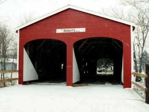 Twin Bridge, Preble County, Ohio|my pin of the day! I've never seen a twin covered!