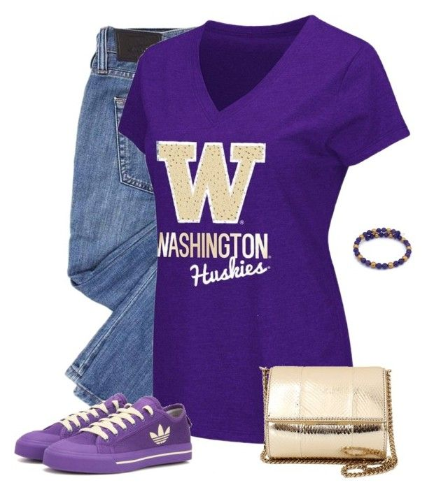 Washington Huskies Game Day by carriefdix on Polyvore featuring Campus Heritage, adidas and Givenchy