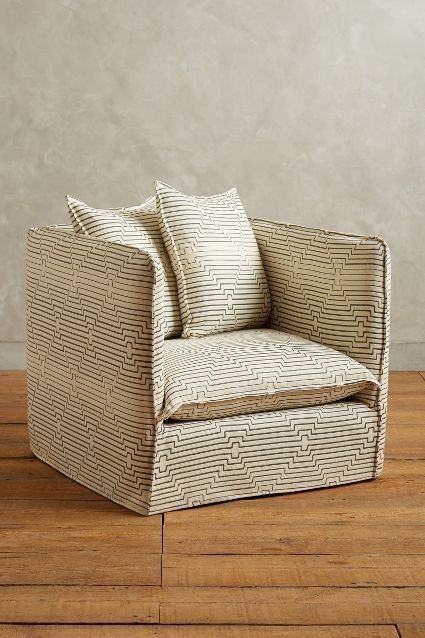 Striped Carlier Armchair #anthroregistry