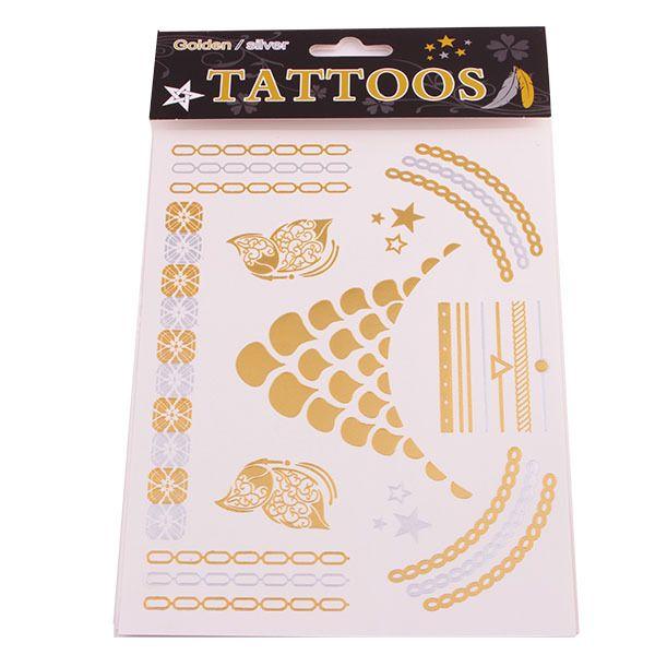Купить T028 продукты секса ожерелье браслеты татуировки металл временные татуировки женщин вспышка metalic поддельные золото серебро татуировки tatouageи другие товары категории Переводные татуировкив магазине Fashion Utopia No.1наAliExpress. тату хной и серьги золотые бабочки спины