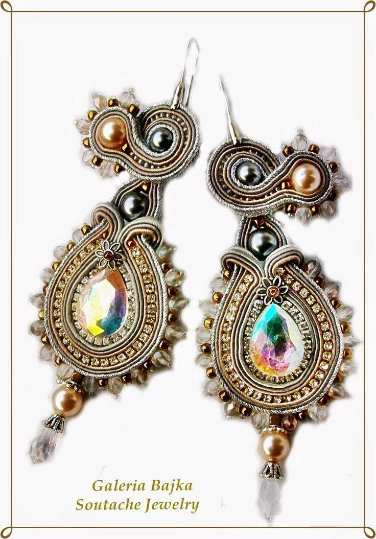 "Galeria Bajka Soutache Jewelry: Komplet (jewelry set) ""Mystic winter"""