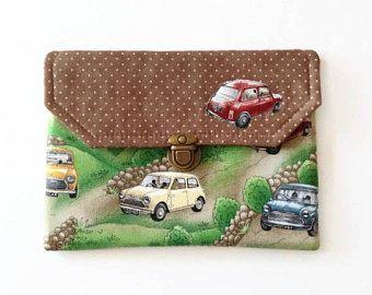 Caso de clásico Austin Mini Cooper Ipad Mini, accesorios Mini Cooper, acolchada cubierta de Ipad Mini,