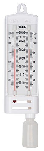 The #Baker B6030 Wet/Dry Bulb Hygrometer measures relative humidity by comparing readings of wet bulb and dry bulb thermometers using relative humidity tables su...