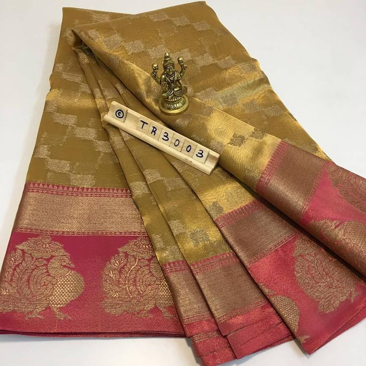 *TR3003*  Tissue woven saree With dual shade peachish pink border *Grand party w…  – Jewelry Ideas