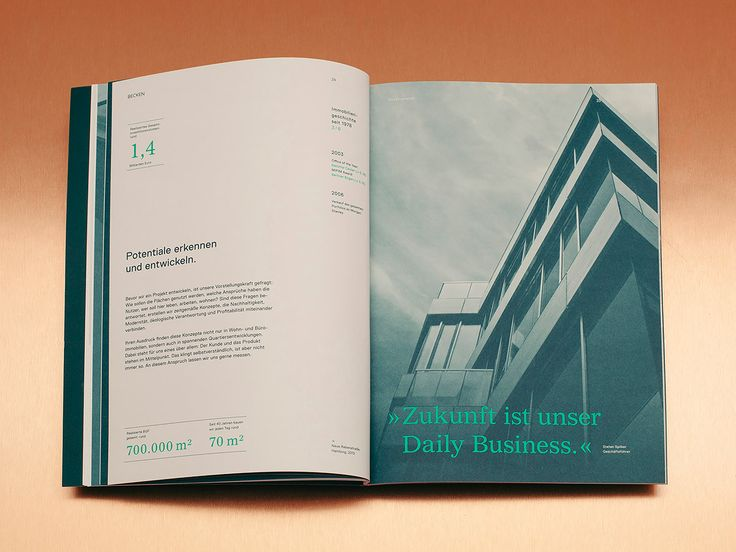 """German studio Karl Anders designed this elegant identity package for Becken, one of the most prominent real estate companies in Hamburg.  """"The real estate company Becken was founded in 1978 by Dieter Becken and has shaped the cityscape of Hamburg with designs like the Berlin arch or the Deichtor Center. Today"""