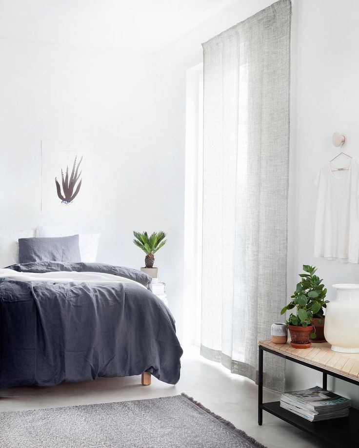 Serene setting. Finnish interior stylist and blogger Susanna Vento has used an understated curtain and rug from Kinnasand for this light-filled, calm space.  Photo @weekdaycarnival  #Kinnasand #photoshoot #grey #interior #wool #susannavento #photography #home #subtle #colours #texture #curtains #byhand #design