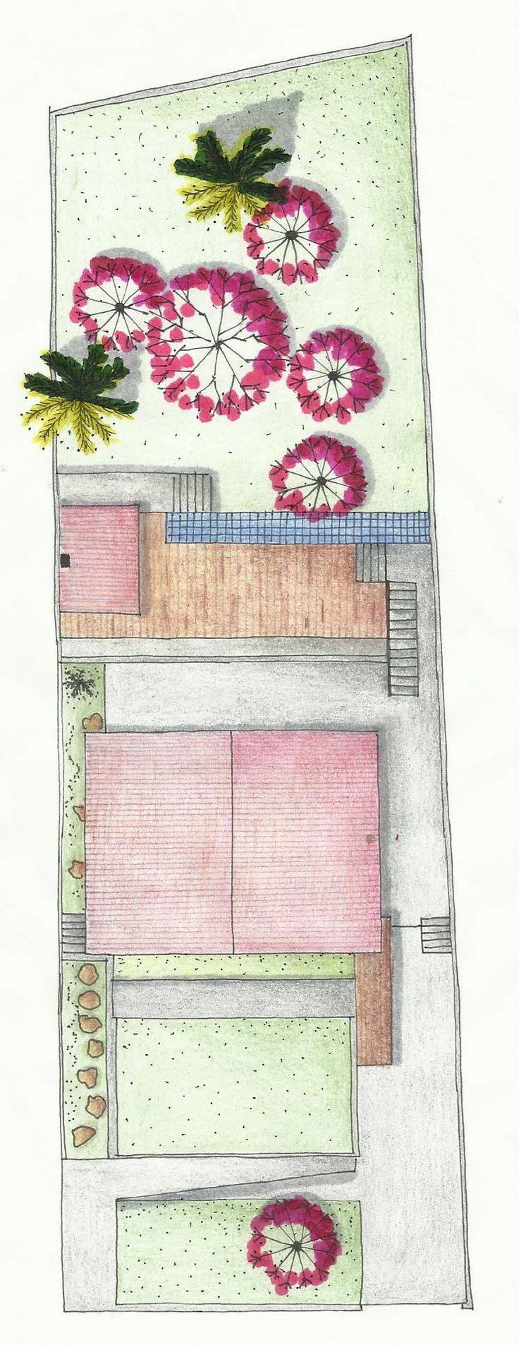 Destaque para a vegetação feita com hidrocor rosa. Autor: Harachane Bassane  2013/4 Professor: Cristina Piccoli