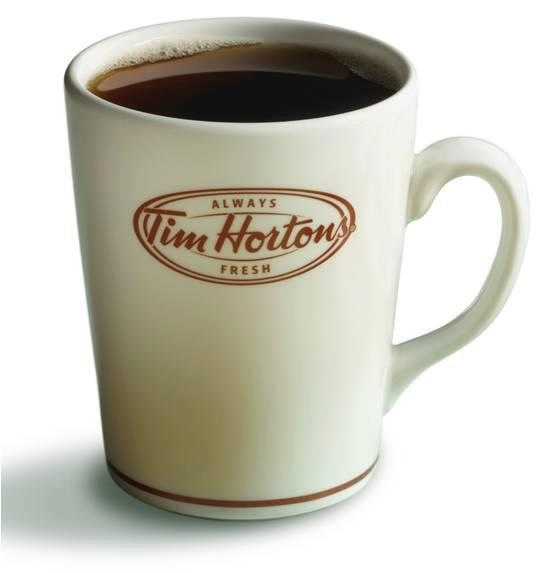 Mmmmmm An Always Fresh Cup of Tim Hortons World Famous Coffee! There is Nothing Better!