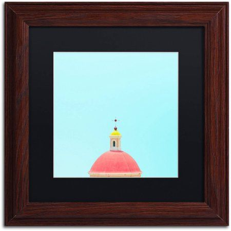 Trademark Fine Art Chapel Canvas Art By Matt Crump Black Matte Wood Frame Size 16 X 16 Assorted Trademark Fine Art