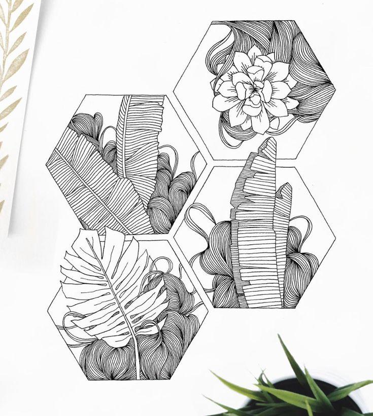 floral, line art, sketch, doodle, geometric – Hazel Maslo