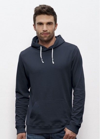 Drizzle men's hoodie in Navy. This #lightweight #hoodie is #fairtrade and made from 100% #organiccotton. Woo! Made in Pakistan.