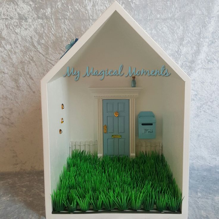 This Blue themed Elf House will bring magic into your home Your pack will come with Handmade Wooden Display HouseBlue Elf DoorBlue Mail BoxWhite Picket FenceLittle Garden - Plain GrassSmall Blue Elf Dust3 Humble Bumble BeesBlue Glow in the Dark DragonflyThe Wooden Display House comes assembled