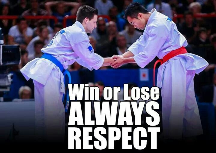 Respect... >>> true but sometimes you get frustrated and don't like your opponent anyways...