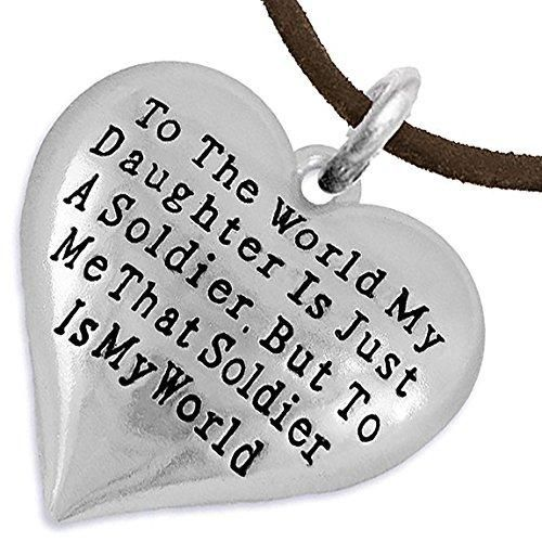 Army, Enlisted Daughter, My Daughter, She Is My World, Necklace, Adjustable Hypoallergenic, Safe