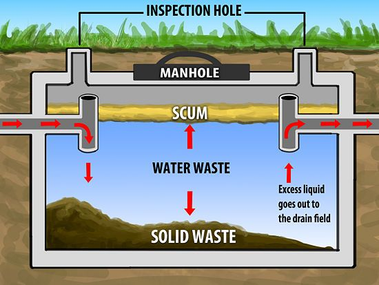 "This is a picture friendly guide on what how septic systems work  ""How often you need your tank pumped depends on the size of your tank and the number of people in your household, usually every 1-5 years."""