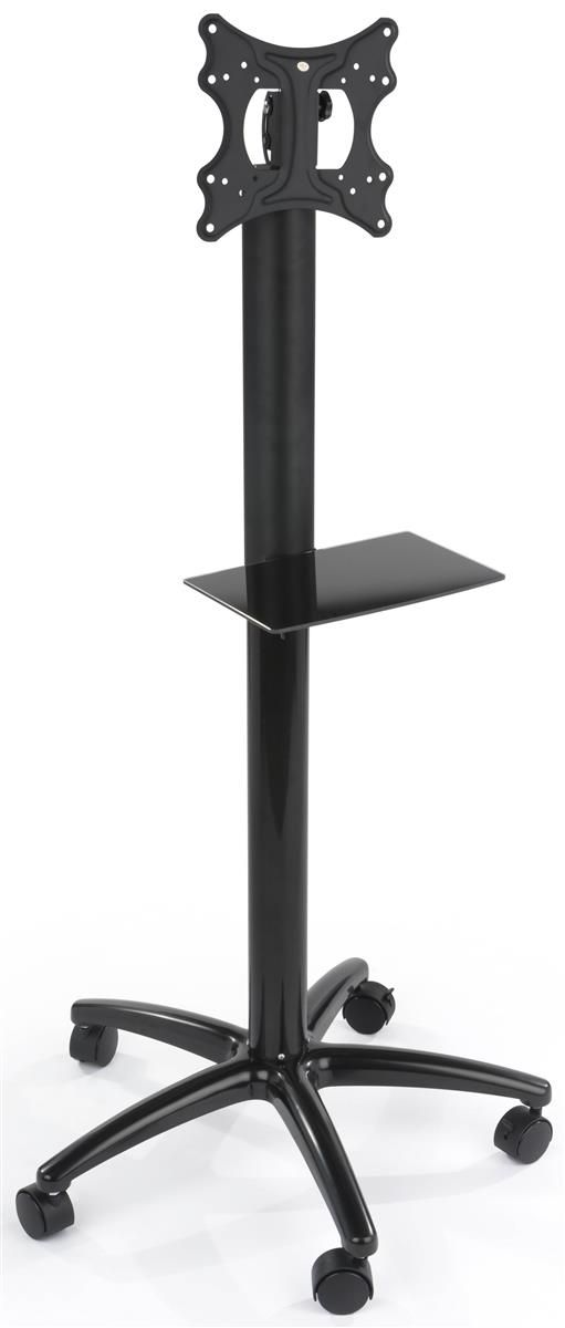 """**New Product** TV Stand with Shelf, Fits Monitors 32""""-42"""", Locking Wheels, Height Adjustable - Black"""