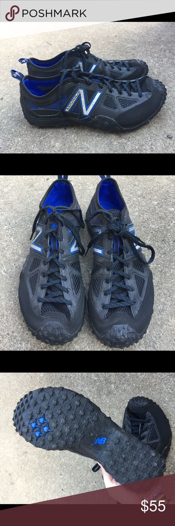 Men's New Balance Minimus Running Sneakers 8.5M Men's New Balance Minimus Running Sneakers 8.5M These are Black & Blue Worn Once! Look brand new New Balance Shoes Sneakers