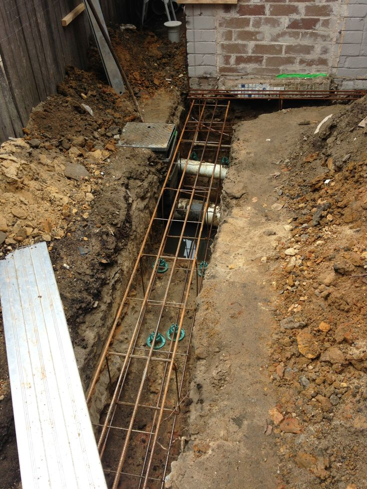 Reinforcement in place ready for concrete to the footings.