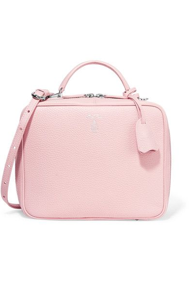 Mark Cross - Laura Textured-leather Tote - Pastel pink - one size