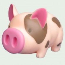 Pig Bank 7 inch Peach with Brown Spots - $19.95   SO CUTE!!!!