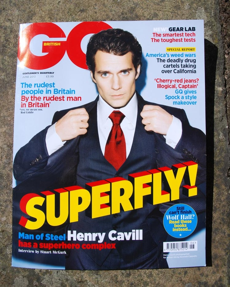 Front cover of the GQ issue we're in. Turn to page 245 now!!