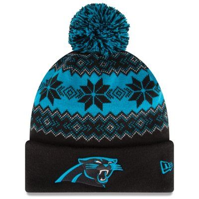 Carolina Panthers New Era Snowburst Knit Beanie – Black/Panther Blue