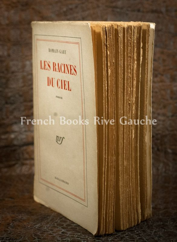 Romain Gary, Les Racines du Ciel ,1956, Gallimard 로맹가리가 첫 공쿠르 상을 받은 작품 하늘의 뿌리  1956년 초판이 나온 해이자 동시에 공쿠르상을 수상한 년도에 발행됐다는데에 의미가 있는 책입니다.  현대문학사에 첫 에콜로지 도서라는 의미도 프랑스인들은 두고 있더군요.