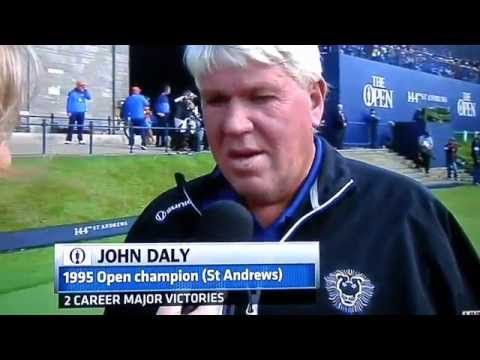 John Daly can't wait to take a drag off his cigarette at St. Andrews.   Real Funny