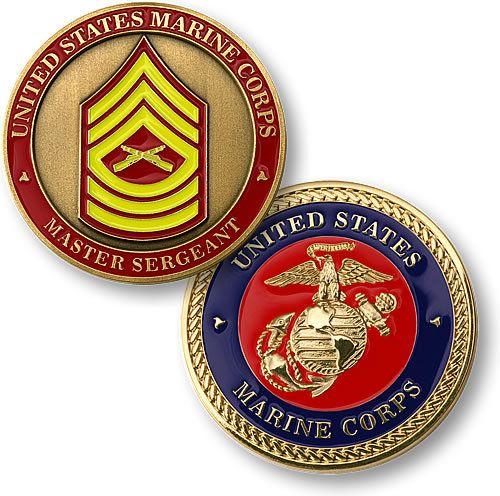 U.S. Marines Master Sergeant Challenge Coin - Meach's Military Memorabilia & More
