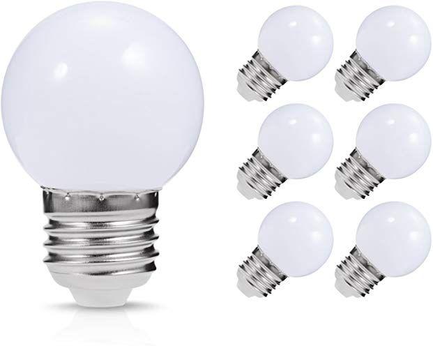 Led Vanity Light Bulb Jandcase G14 Globe Bulb 1 Watt 10w Equivalent Soft White 3000k Ideal For Bathroom Mirror Porch Strip Lights Ceiling Fan Nig Kobber