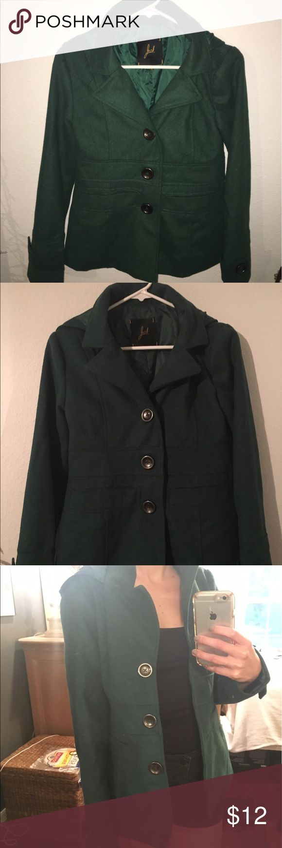 Hunter green winter coat Winter coat with hood (shown in last picture) Jack Spade Jackets & Coats Trench Coats